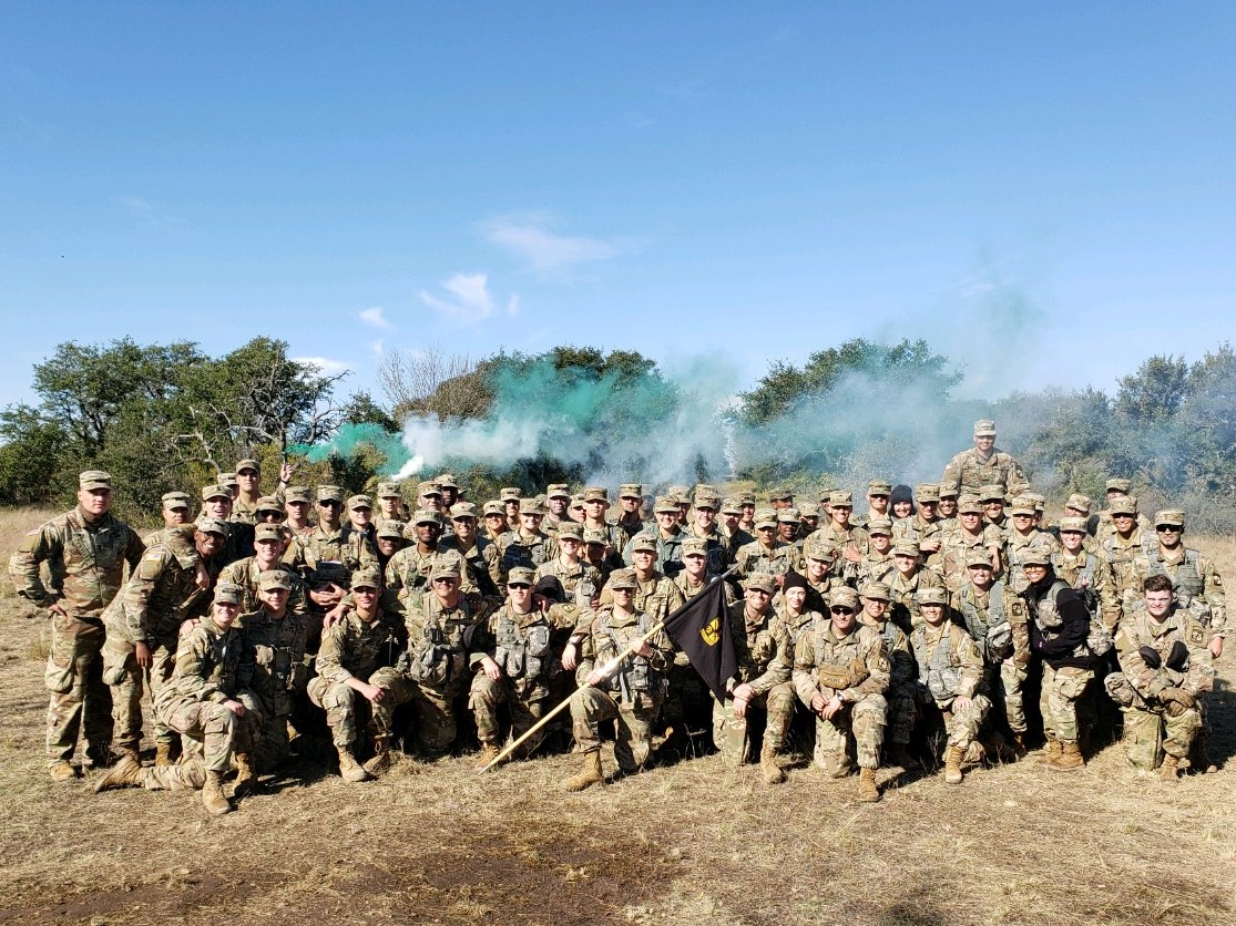 ROTC Battalion Group Photo from Field Training Exercise