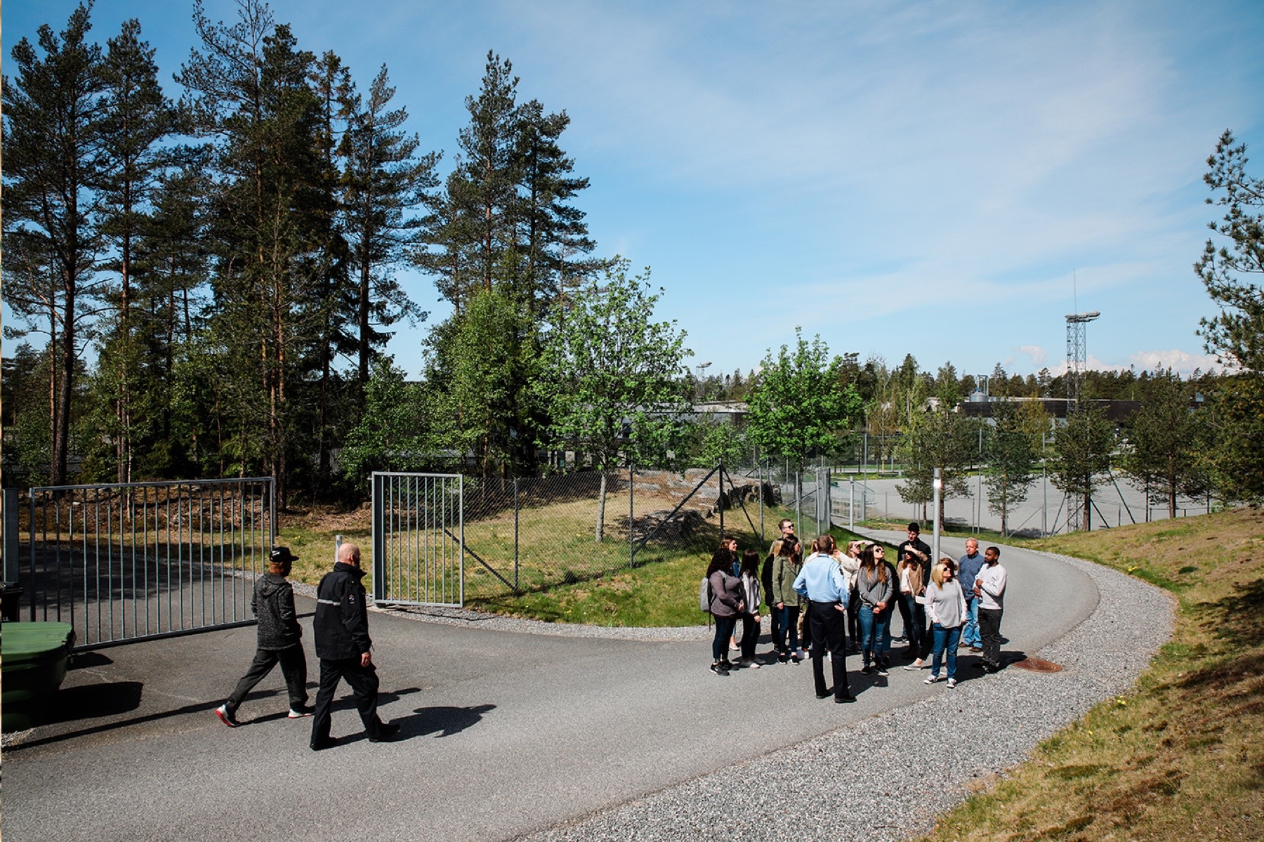 Students visit a prison in Oslo