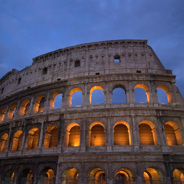 Coliseum in Rome, Italy at sunset